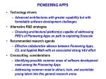 pioneering apps