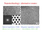 nanotechnology alternative routes