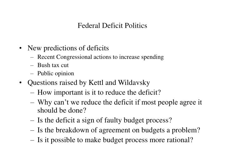 Federal deficit politics