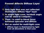 fresnel affects diffuse layer