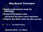 map based technique