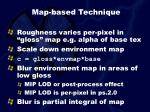map based technique17