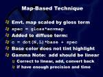 map based technique35