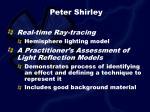 peter shirley