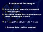 procedural technique
