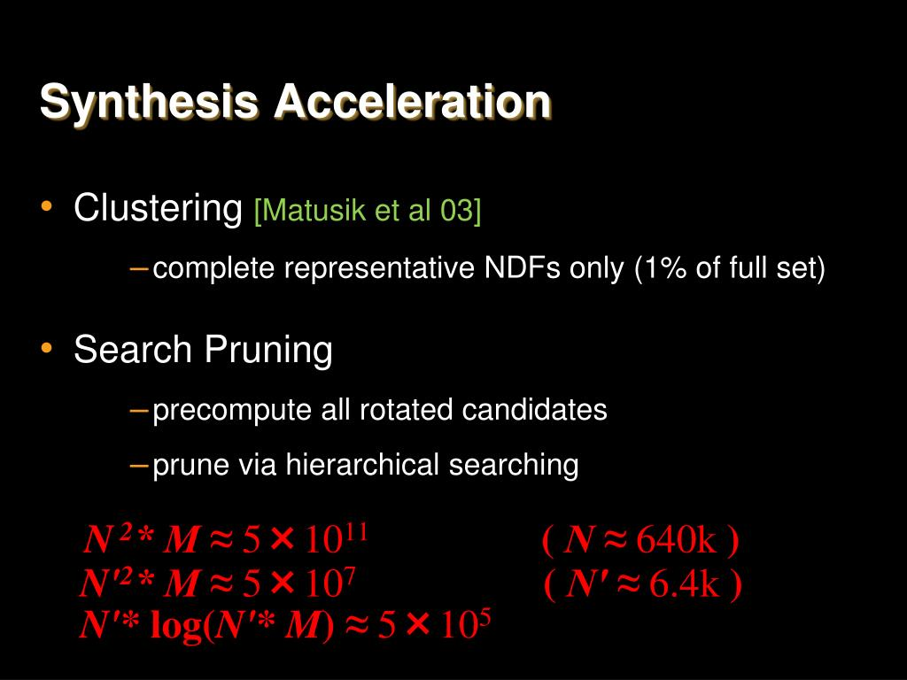 Synthesis Acceleration