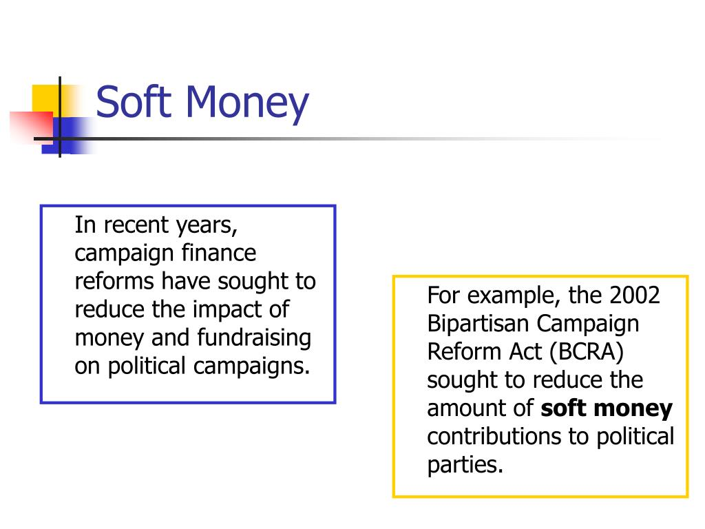 In recent years, campaign finance reforms have sought to reduce the impact of money and fundraising on political campaigns.