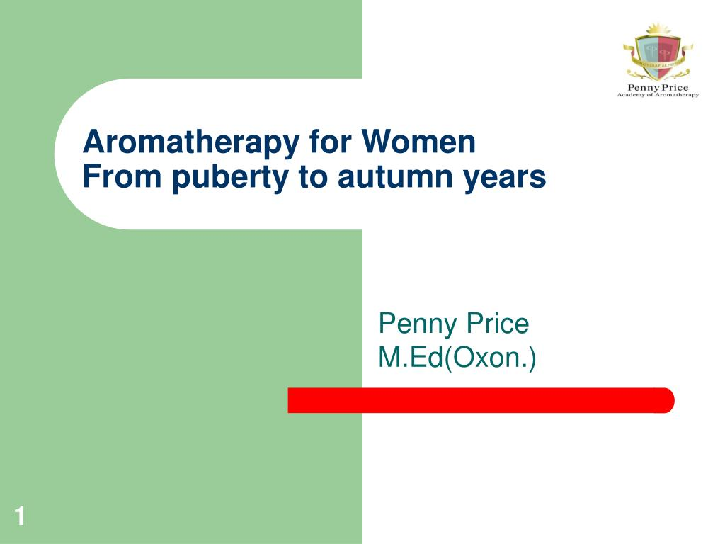 aromatherapy for women from puberty to autumn years l.