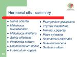 hormonal oils summary