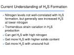 current understanding of h 2 s formation