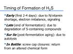 timing of formation of h 2 s21