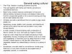 general eating cultural