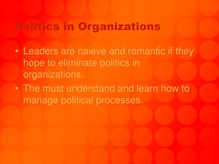 Politics in organizations