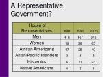 a representative government