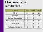 a representative government30