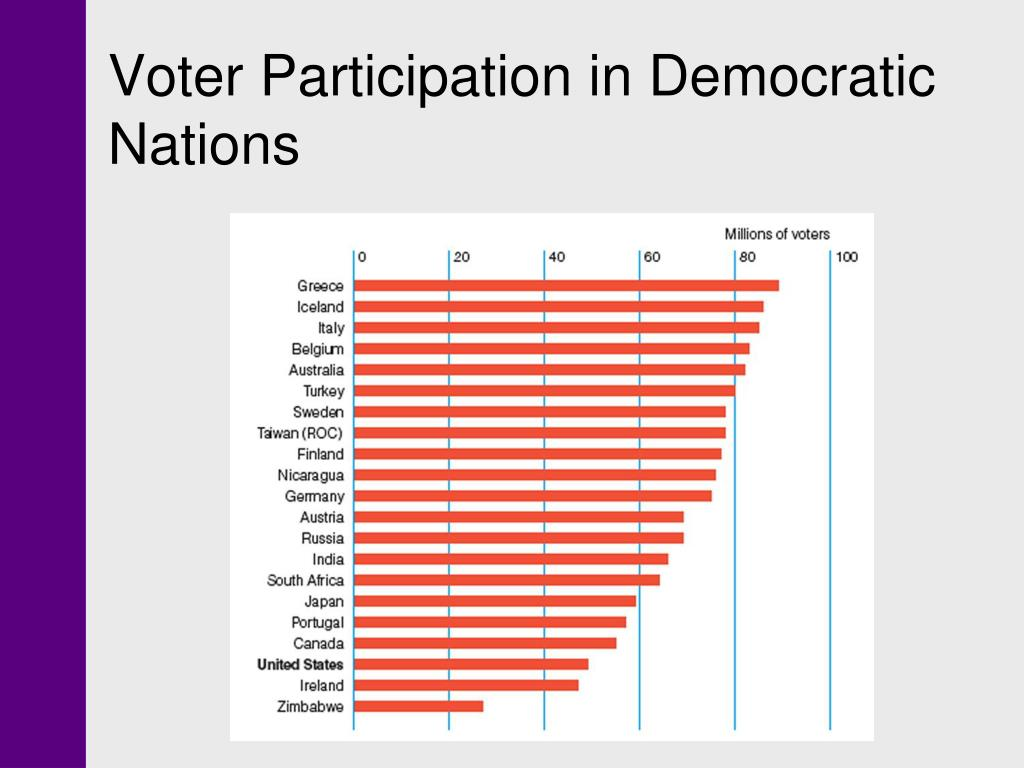 Voter Participation in Democratic Nations