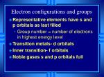 electron configurations and groups