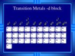 transition metals d block