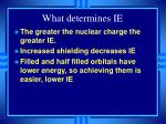 what determines ie
