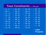 trace constituents 100 m g l