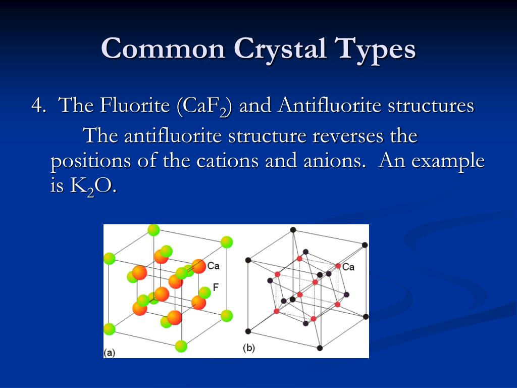 Common Crystal Types