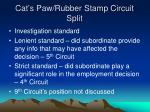 cat s paw rubber stamp circuit split
