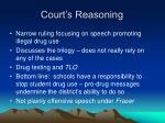 court s reasoning