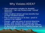 why violates adea