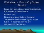 winkelman v parma city school district