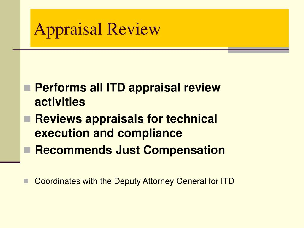 Appraisal Review