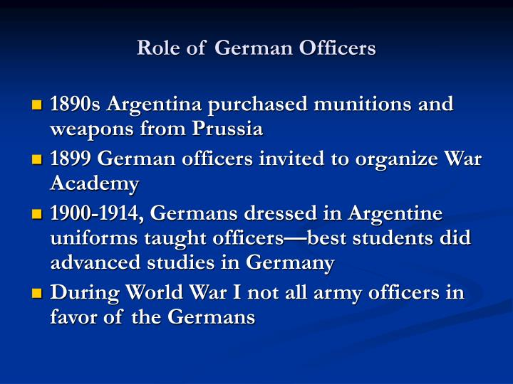Role of german officers