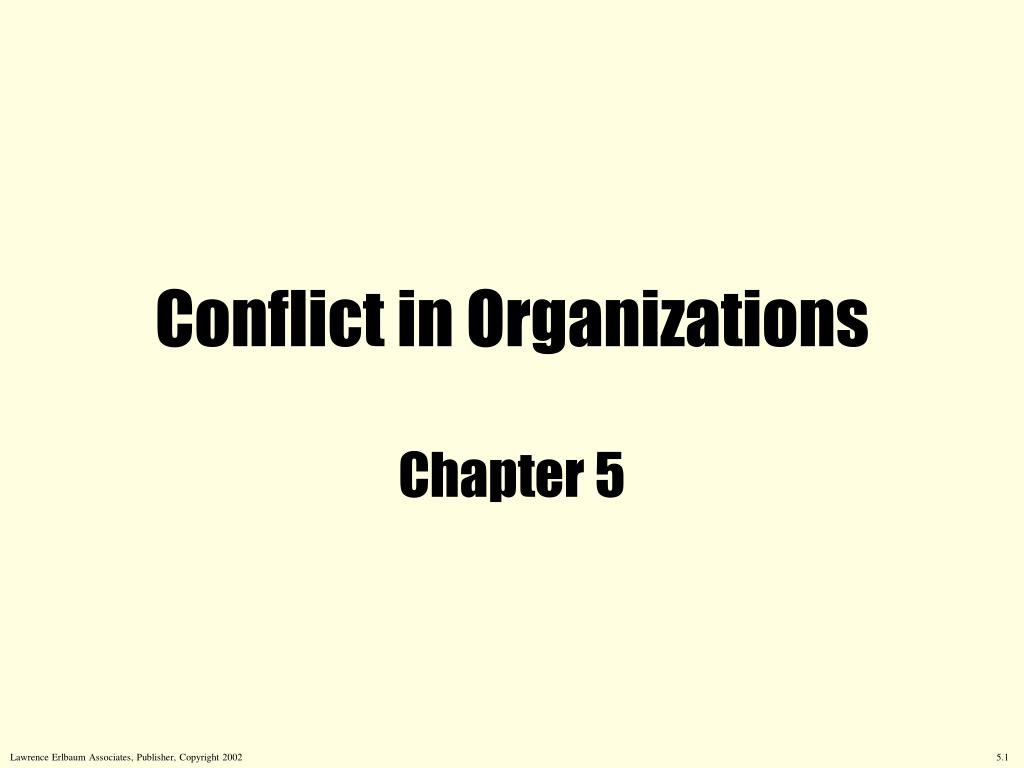 conflict in organizations l.