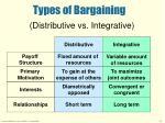 types of bargaining