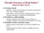 flexible structure of meiji politics banno ohno theory