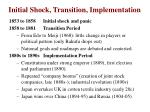initial shock transition implementation