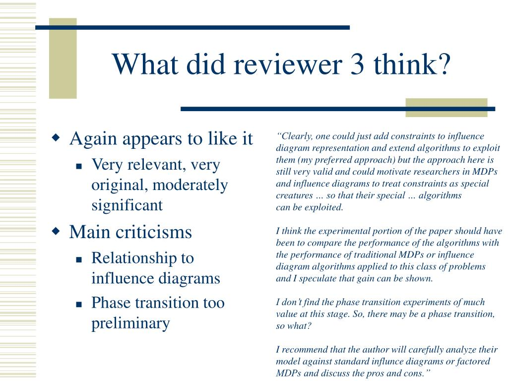 What did reviewer 3 think?