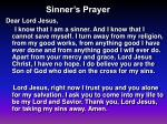sinner s prayer