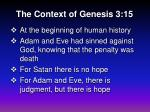 the context of genesis 3 15