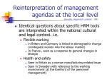 reinterpretation of management agendas at the local level brewster hegewisch lockhart 1991