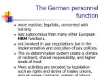 the german personnel function