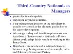 third country nationals as managers
