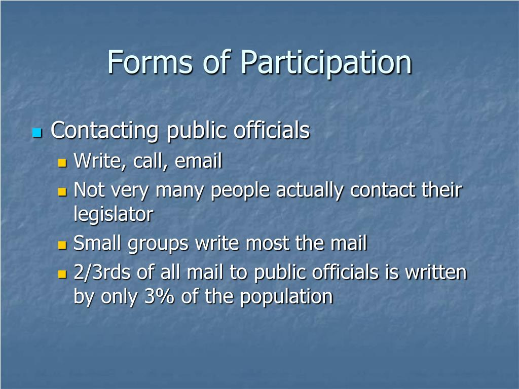 Forms of Participation