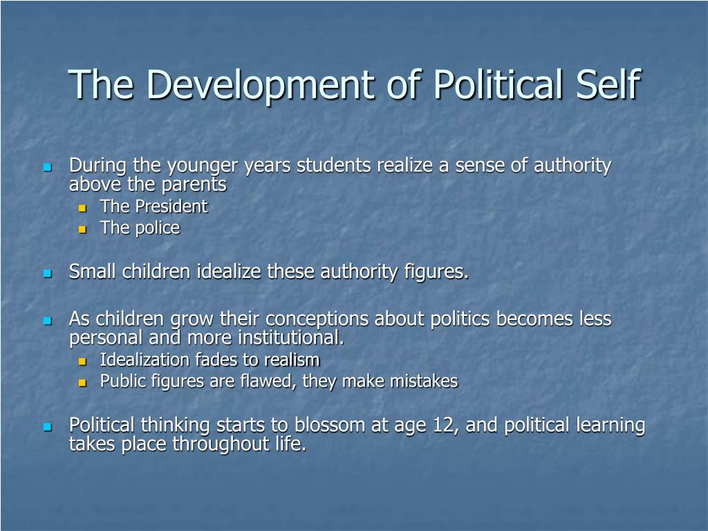 The Development of Political Self