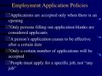 employment application policies