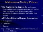 multinational staffing policies12