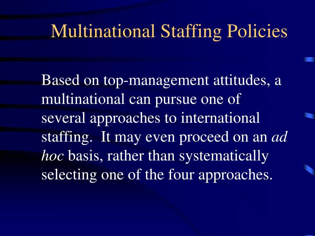 international staffing approaches