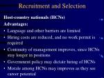 recruitment and selection19