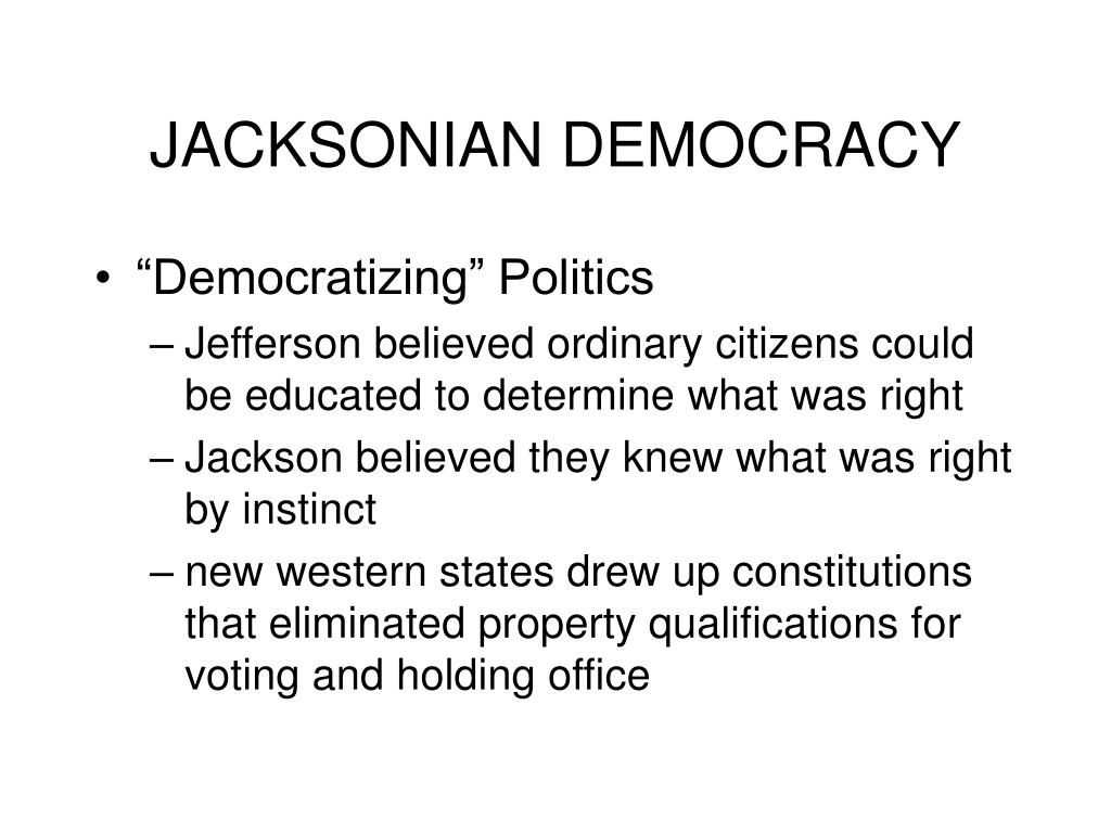 jacksonian democracy l.