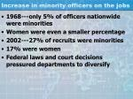 increase in minority officers on the jobs