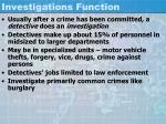 investigations function